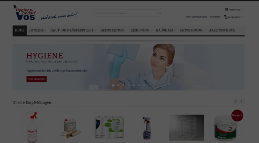 Screenshot vos-hygiene.de